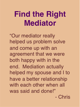 Divorce Mediator Recommendation