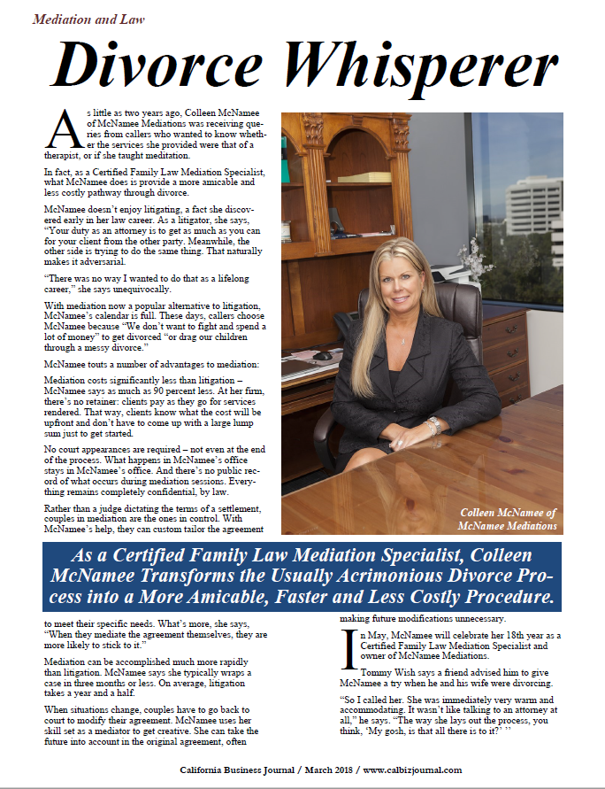 Recently Featured in The California Business Journal